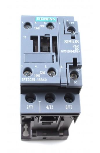 CONT.AC3 7,5Kw 400V NA+NC DC 24V S0 TORN 3RT2025-1BB40